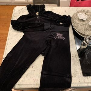 Juicy Couture Luxury Crown Velour Track Suit XST